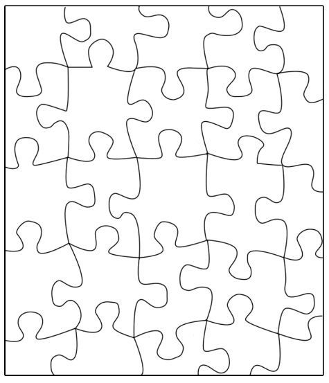 Puzzle template: Transfer this puzzle to a large poster