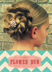 flower bun tutorial cute fast