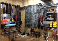 Galvanized Steel Metal Pegboard Pack - Two 32in x 16in ...