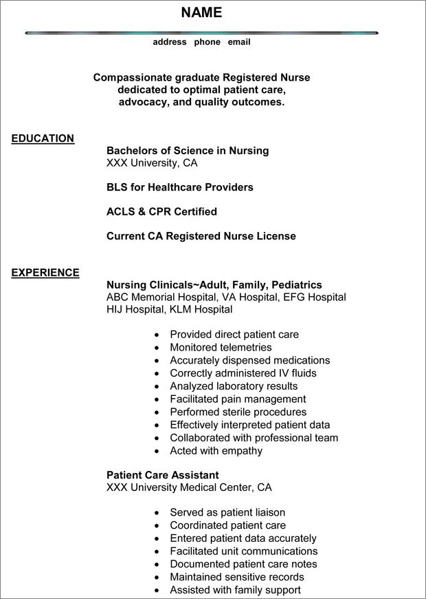 Top 10 Resumes For Registered Nurse Images Nursingsample 1