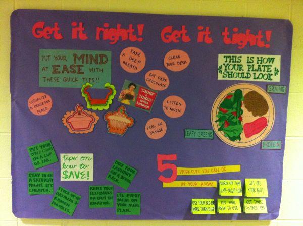 Physical Mental Financial Wellness Bulletin Board #
