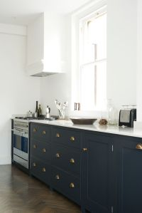 Navy cabinets. | THERE'S NO PLACE LIKE HOME | Pinterest ...