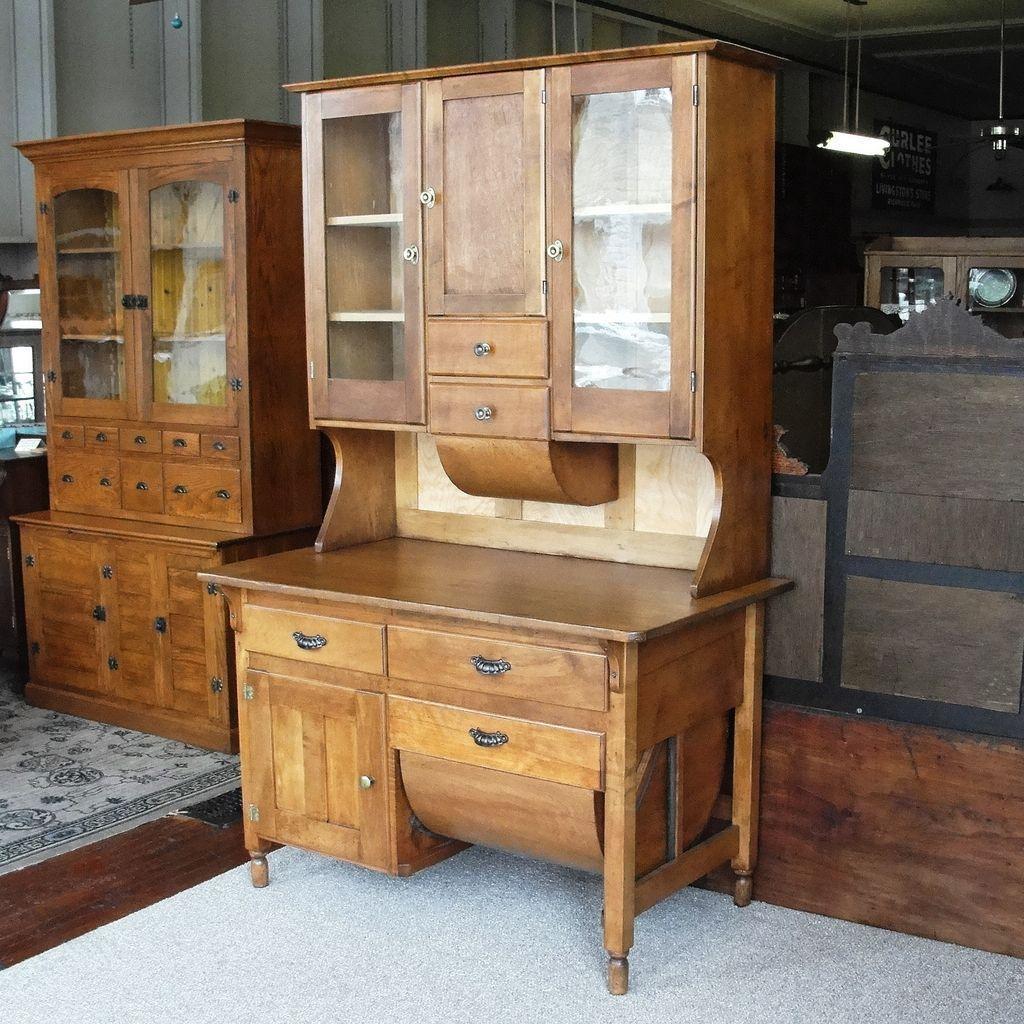 vintage kitchen hutch heavy duty shears antique primitive possum belly cabinet