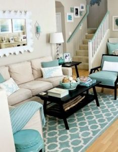 small coastal beach theme living room ideas with great style also rh es pinterest