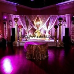 Table And Chair Rentals Sacramento Dining Room Covers Australia Gatsby Gold Sequin Backdrop With Chandelier Indian Wedding Red Flowers Columns Stage ...