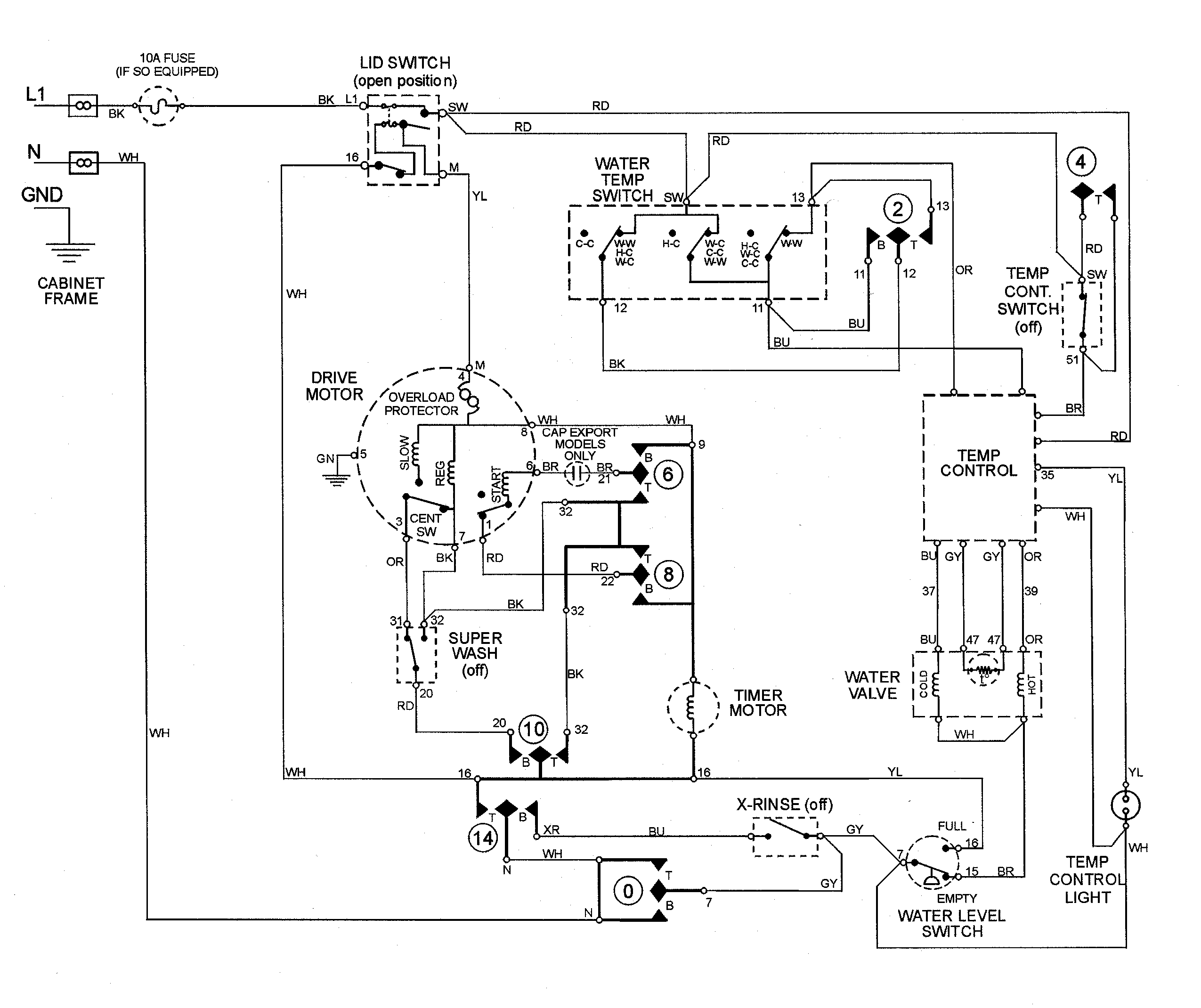 dbfe84c1294a289a6a6d42ba64109ee4 washing machine motor wiring diagram Chevrolet Truck Schematics at edmiracle.co