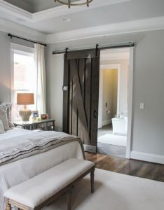 House also shiplap sliding door in master renovate post pinterest rh