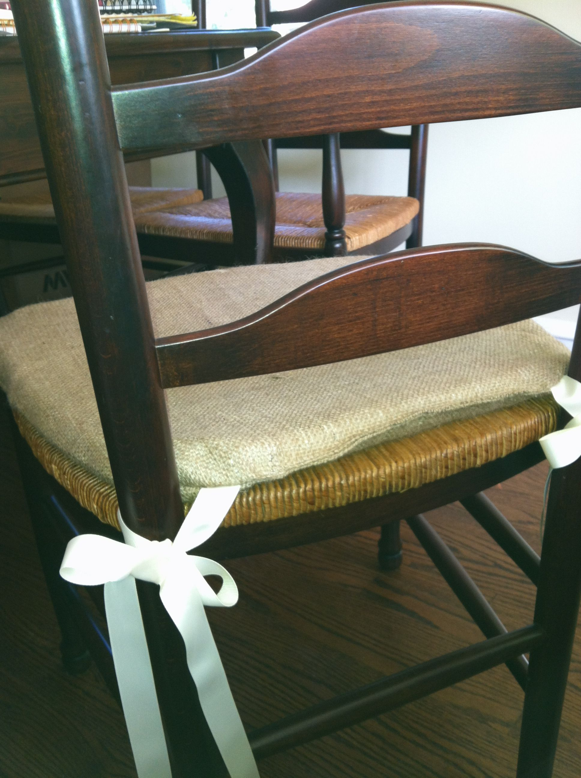 Burlap Chair Cushions Burlap Chair Cushion For The Home Pinterest Burlap