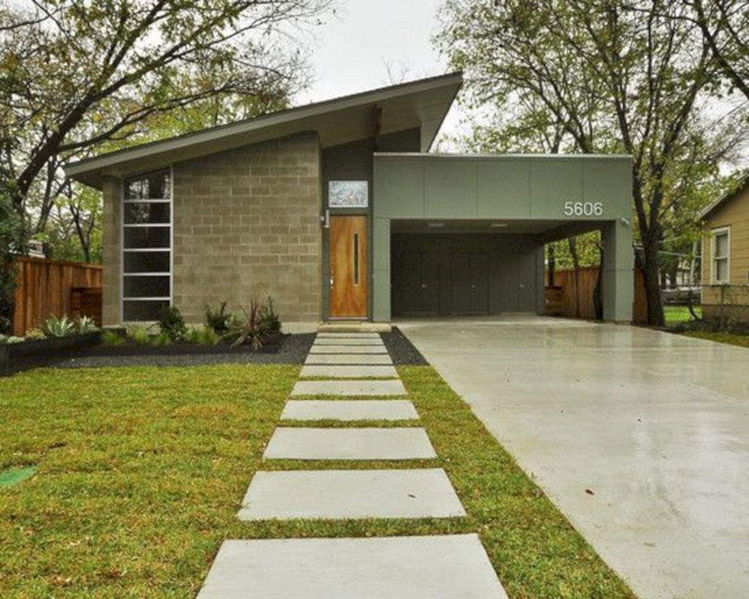 35 The Most Favorite Mid Century Modern Exterior Home Design