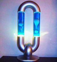 RARE DOUBLE LAVA LAMP CHAIN LINK DESIGN retro 70s 80s 90s ...