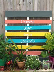 Sanded Primed & Painted Pallet Flower Box