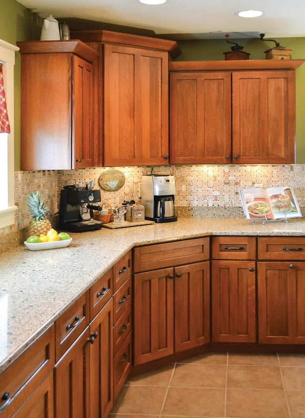 Countertop ideas for my oak cabinets   For the Home   Pinterest   Wood cabinets, Corner cabinets ...