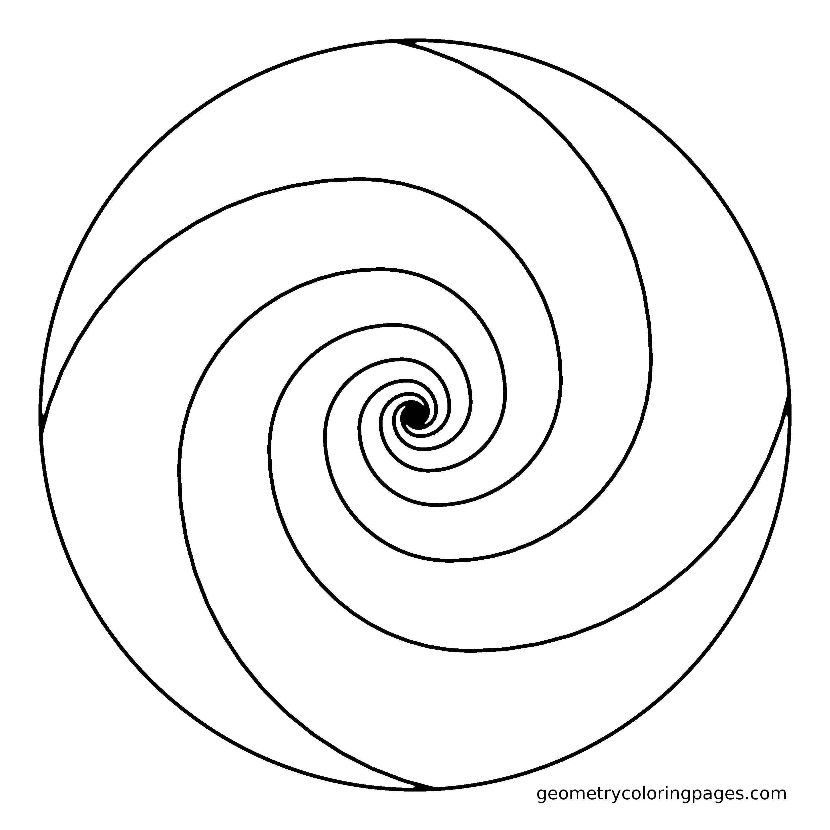 Simple Swirl Coloring Pages