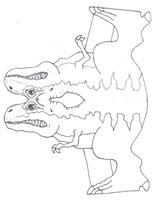 Manualidades para niños: Molde Tiranosaurio Rex (Cuerpo