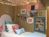 Crosby Dorm Ole Miss- love the gallery wall and lights ...