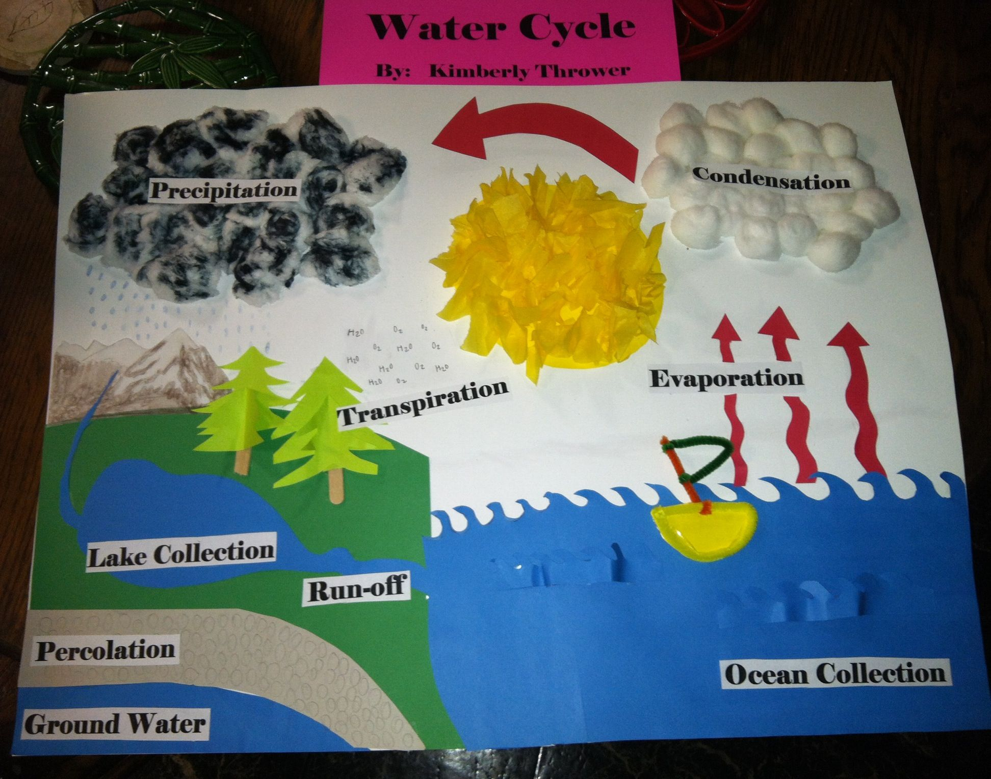 My Sweet Daughter S Water Cycle Project I Think She Did An Amazing Job