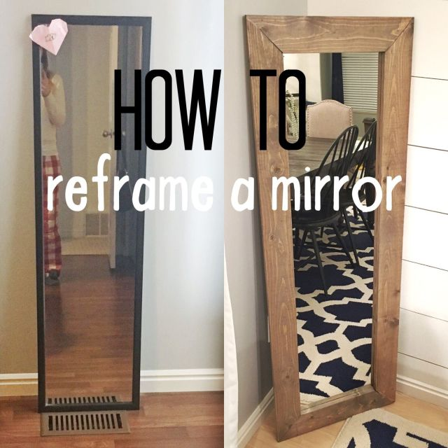 How to reframe a mirror Hardy Party Pinterest