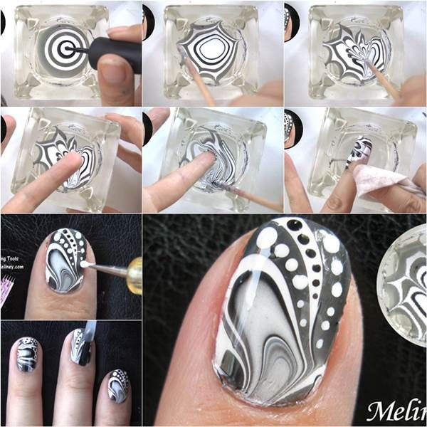 How To Make Amazing Water Marble Nail Art DIY Tutorial Facebook