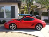 My Cayman with roof rack for bikes and surfboard | Porsche ...