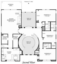 double staircase foyer house plans