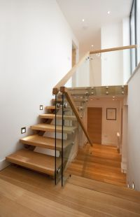 Trevanion home remodel, Cornwall. Split level staircase ...