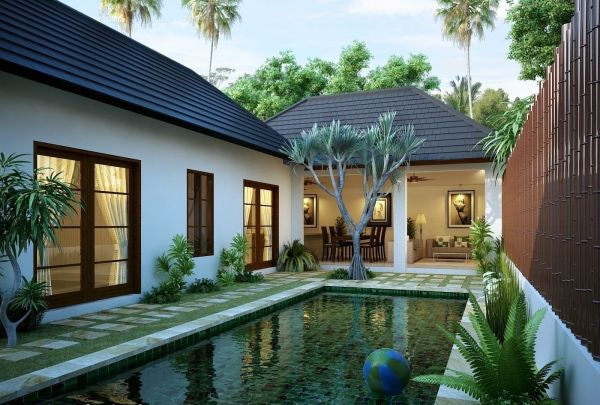 Beautiful Modern Tropical Exterior House Design 2014