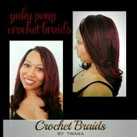 Yaky Pony Crochet Braids in colors 99J & 1B. 12 front ...