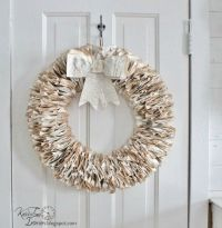 2014 DIY paper Christmas wreath with bow decorations craft ...