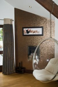 Glitter Wallpaper (Bronze) - price per metre: Amazon.co.uk ...