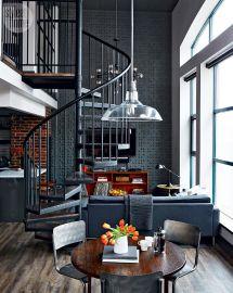 Loft Tour Retro-industrial Design Spiral Staircases