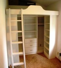 loft beds with closets underneath | Murphy Beds | Wall ...