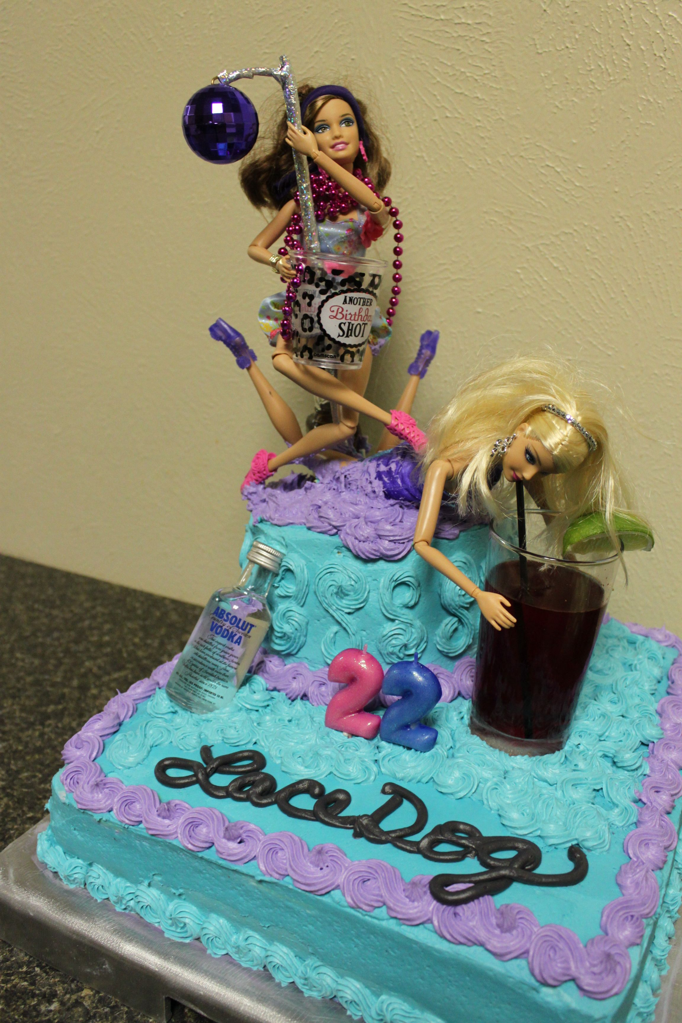 Crazy Night Out Barbie Birthday Cake