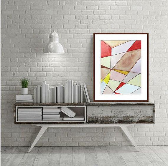 original watercolor painting small art abstract wall minimalist  also rh pinterest
