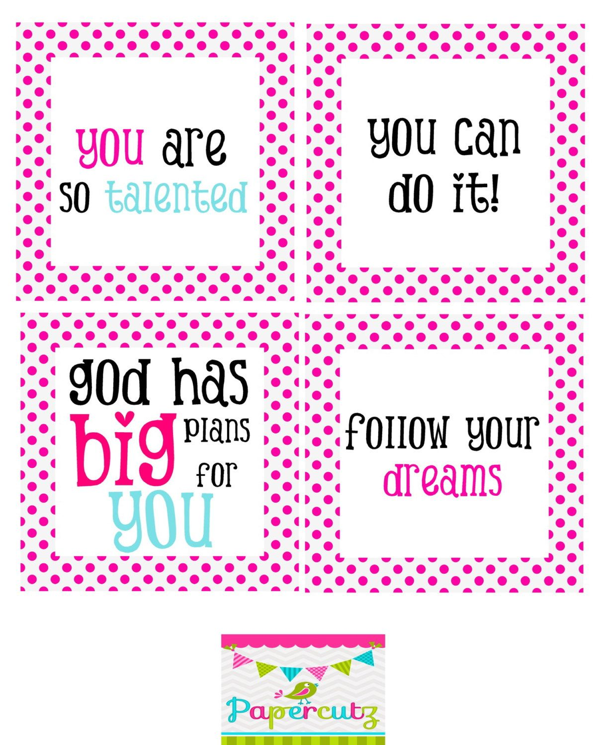 Printable Encouragement Cards