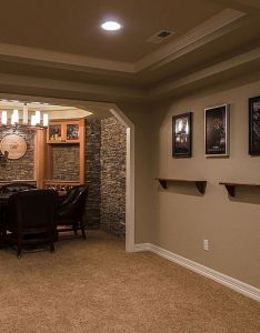 Basement finishing ideas for  great home simple finished designs with gray wall  also rh pinterest
