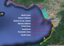 Puerto Vallarta Zones Map