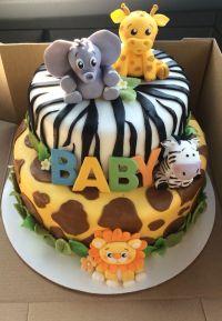 Safari Baby Shower Cake | Baby Boy Shower | Pinterest ...