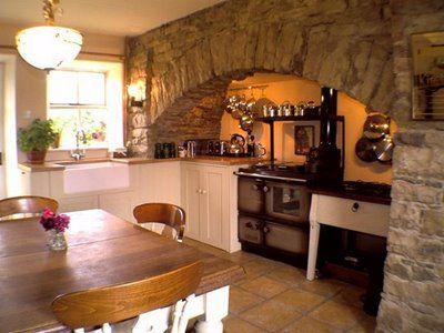 Irish Cottage Decor On Pinterest  Interior Stone Walls