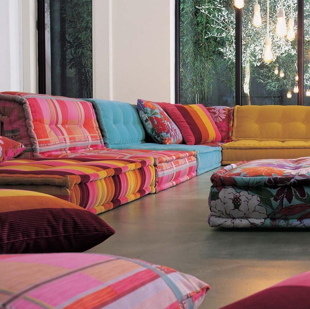 colorful sofa ideas organizer pattern contemporary roche bobois designs collection