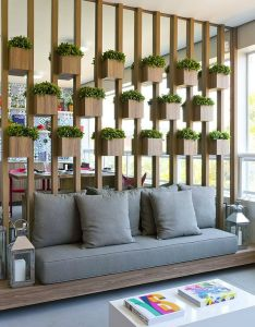House also biophilic design plant wood and mirror wall feature in  living rh pinterest