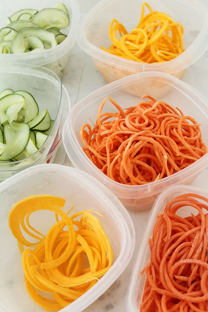 How to store zucchini noodles and other types of