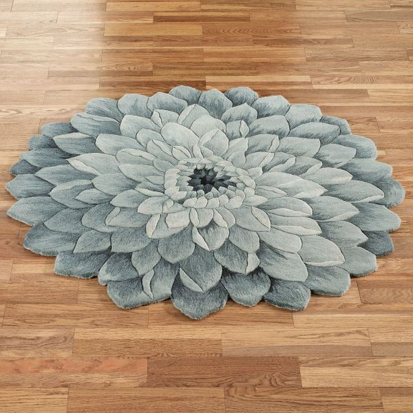 Round Flower Shaped Rugs
