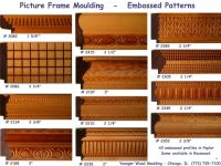 embossed picture frame moulding for picture frames with ...