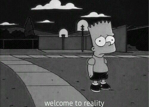 Simpsons Black White Sad Edits And