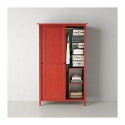 HEMNES Armario2 puertas correderas  rojo  IKEA  ideas cuarto  Pinterest  HEMNES Puertas correderas y Correderas