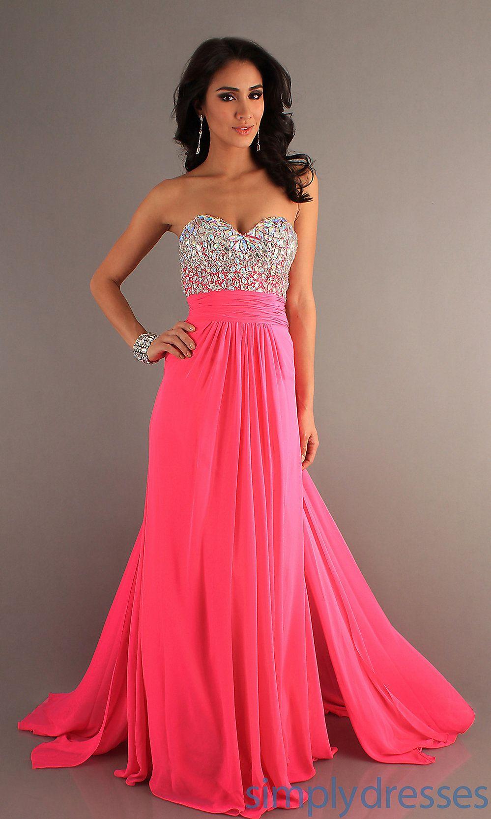 PINK sweetheart long dress  Prom 2k15  Pinterest  Prom Prom dresses 2015 and Dress prom