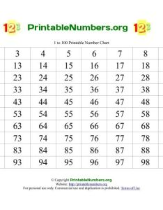 Our free printable charts with numbers are available in pdf also   enumber      cb  echart  christmas pinterest number rh