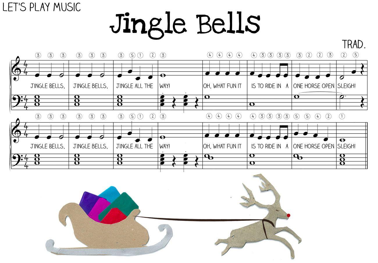 Easy Jingle Bells Sheet Music For Piano
