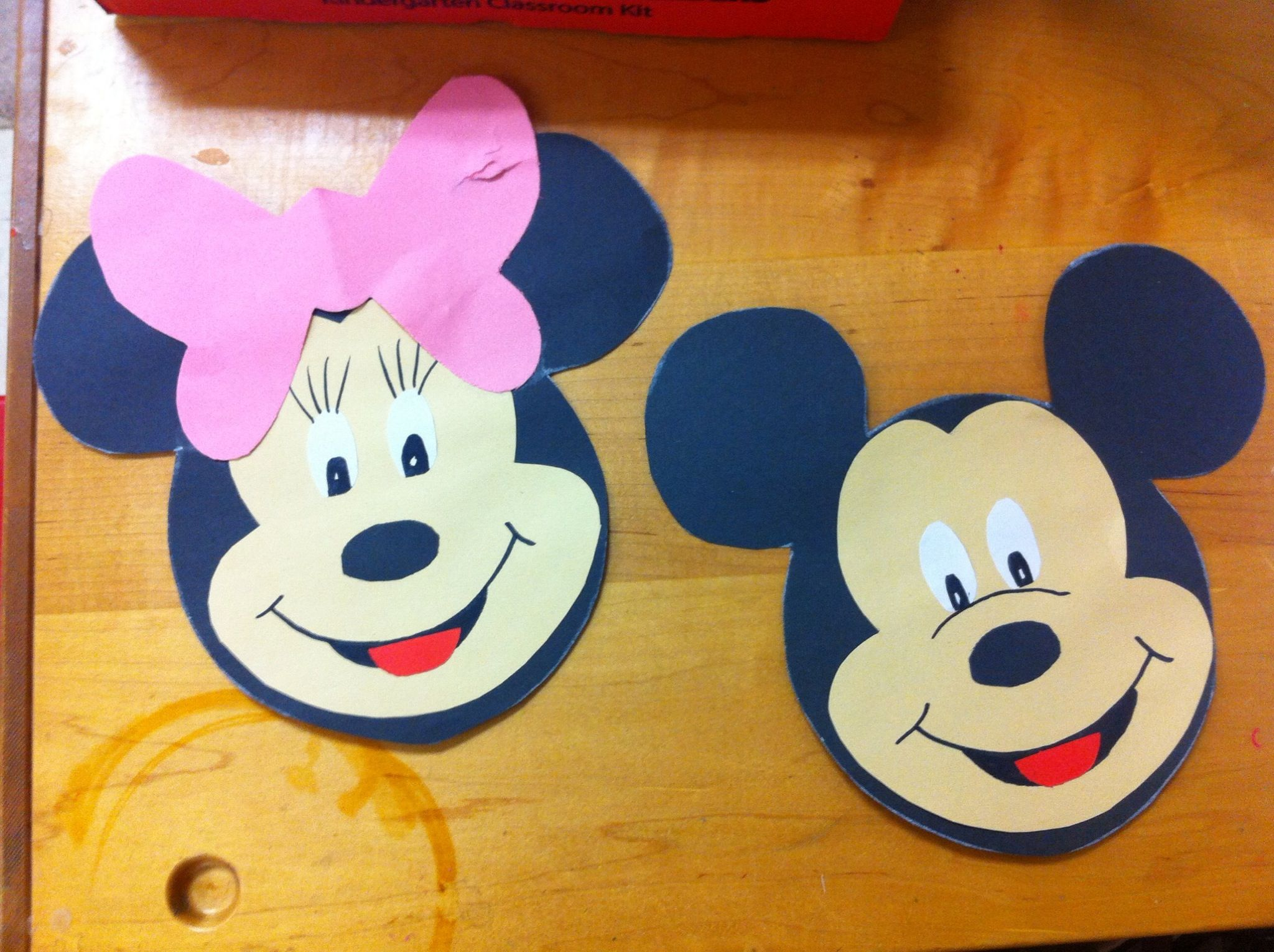 Letter M Craft Minnie Mickey Mouse Let Kids It Out
