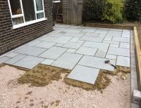 Paris Lawns and Landscaping Project Grey Indian Stone ...